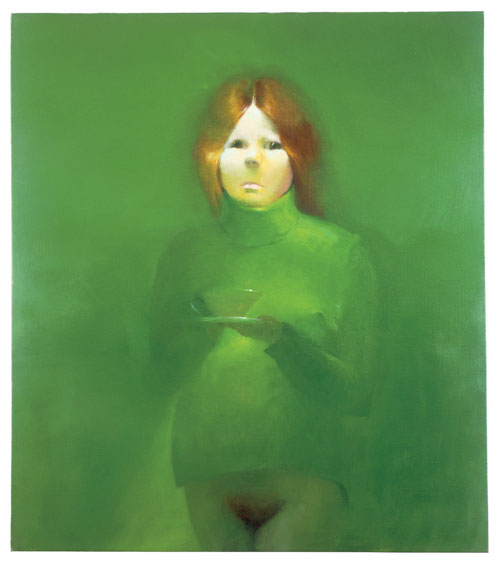 The Ones That Don't Want To: Kelly Marie, 1992. Oil on canvas. 34 x 30 inches. 86.4 x 76.2 cm